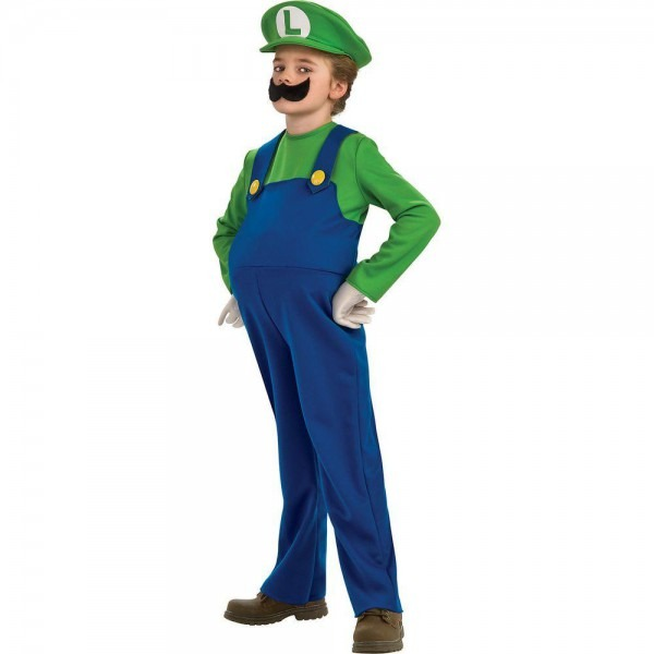 Disguise Child Deluxe Super Mario Luigi Costume