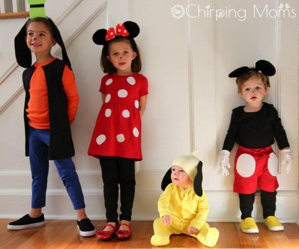 Easy Diy Mickey & Pals Costumes