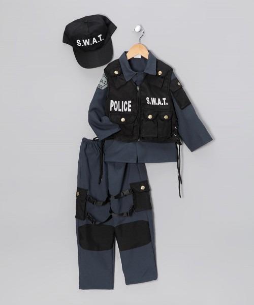 Dress Up America Black Swat Police Dress