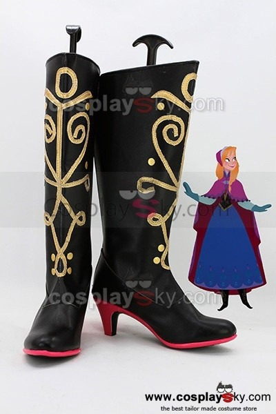 Frozen Princess Anna Cosplay Boots Shoes,custom Made In Your Own