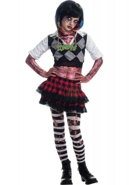 Punk Rocker Girl Zombie Costume