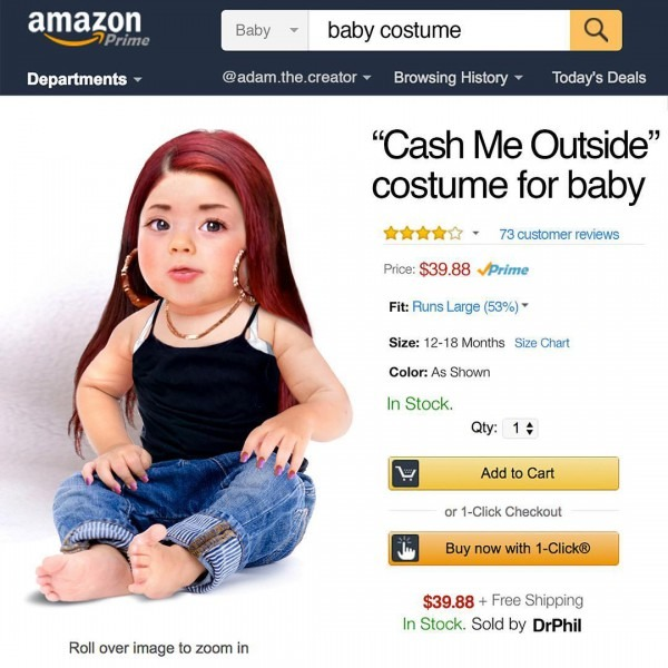 Costume For Baby (by Adam The Creator)