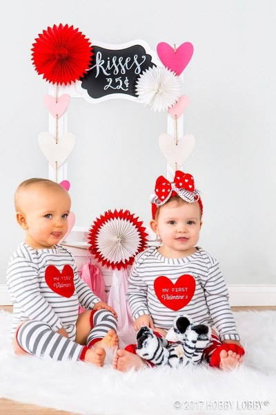 Celebrate Their First Valentine's Day With A Diy Photo