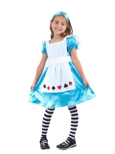 Girls Alice Costume World Book Week Day Child Kids Story Character