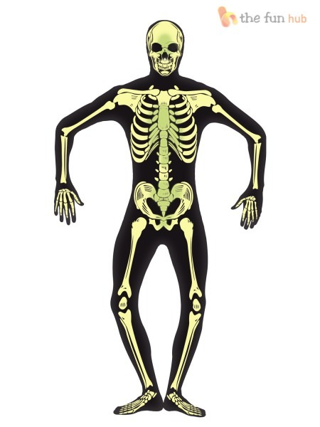 Adult Mens Second Skin Suit Halloween Fancy Dress Costume Outfit