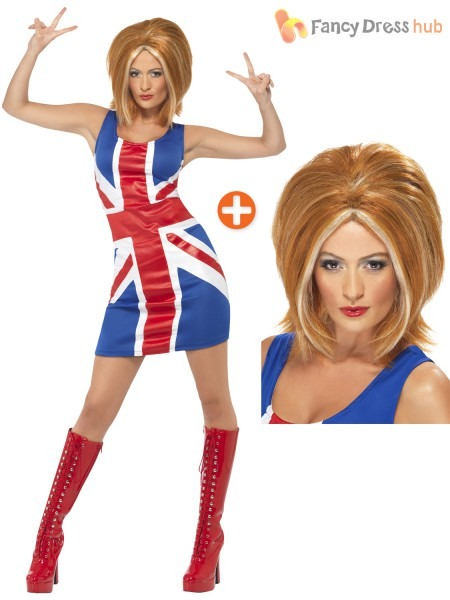Ladies Ginger Spice Costume Adults Spice Girls Fancy Dress Union
