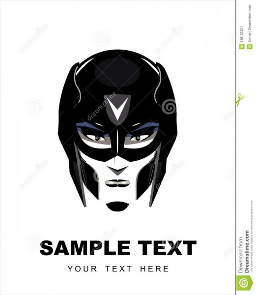 Female Superhero With The Black Mask Stock Vector