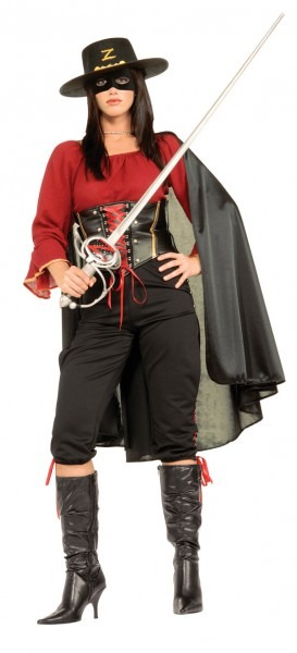Zorro Costumes (for Men, Women, Kids)
