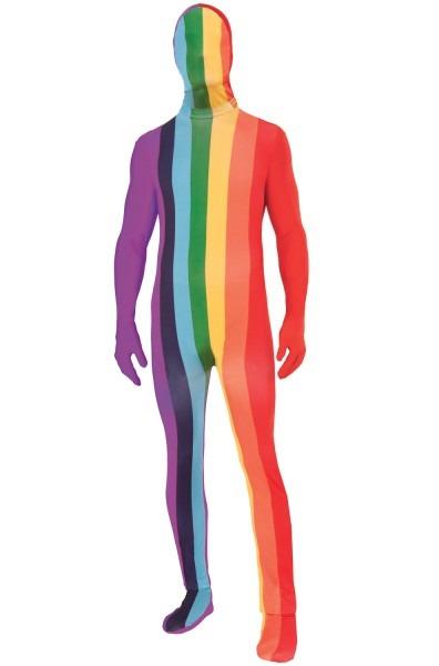 Rainbow Skin Suit Adult Costume (xl)
