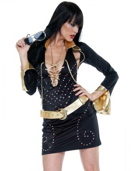 Elvis Sexy King Of Rock Vegas Superstar Mini Dress Womens