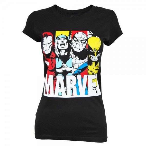 Freeze Womens Marvel T Shirt Black
