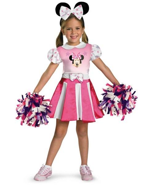 Minnie Mouse Disney Cheerleader Kids Costume