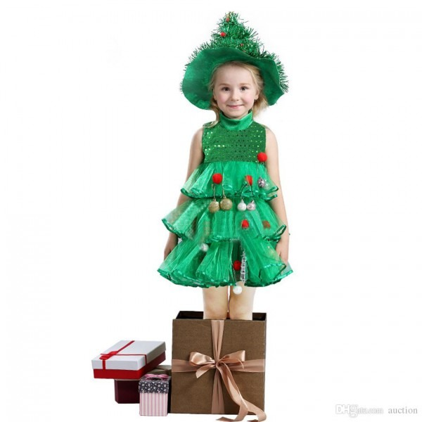 2019 Girls Christmas Clothes Xmas Dress Outfits Children Kids