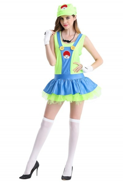 Halloween Carnival Super Mary Costume Disfraces Adults Women Anime