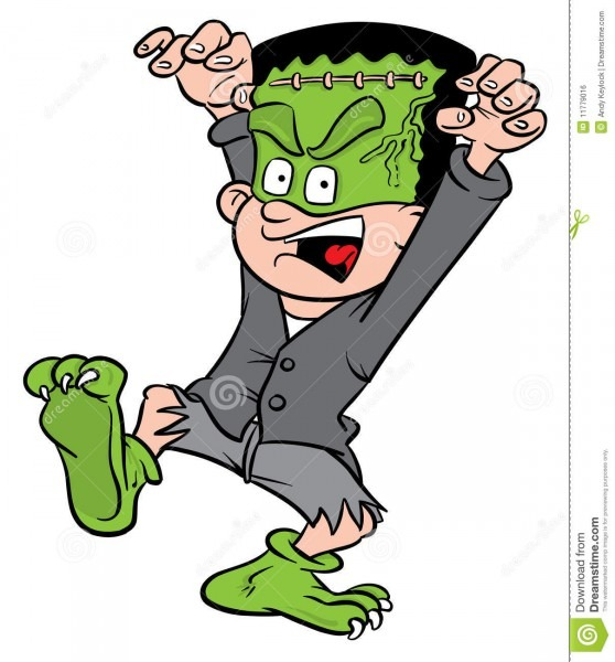 Halloween Frankenstein Costume Stock Vector
