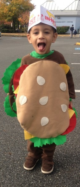Hamburger Costumes (for Men, Women, Kids)