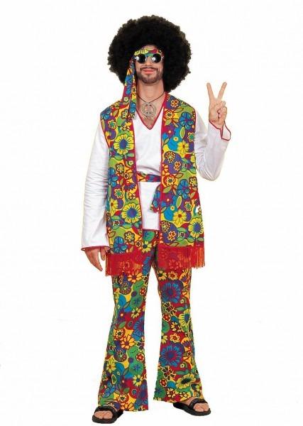 K12 Hippie Mens 60's 70's Disco Peace Groovy Halloween Fancy Dress