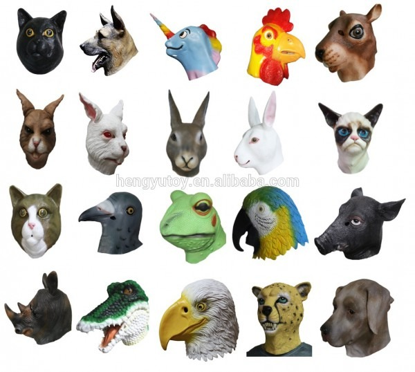 Professional All Kinds Of Animal Masks Realistic Latex Halloween