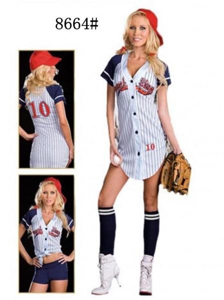 Baseball Player Costume Girl & Grand Slam Girl Baseball Player
