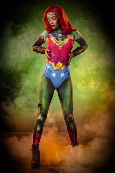 Wonder Woman Inspired Zombie Costume Superhero Costume Women