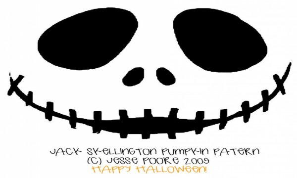 27 Images Of Jack Skellington Pumpkin Template With Directions