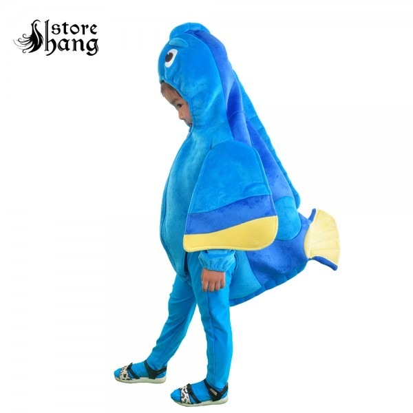 Kids Finding Dory Costume Blue Fish Dress Up Mascot Costume Baby
