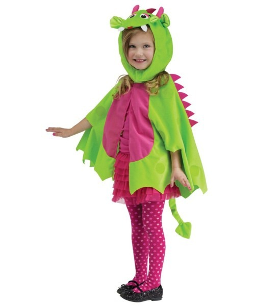Kid's Wacky Green Dragon Cape Toddler Unisex Accessory