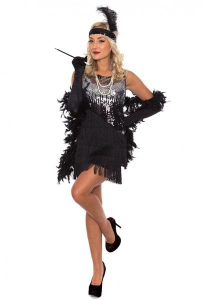 Ladies 20s 1920s Charleston Flapper Chicago Fancy Dress Costume