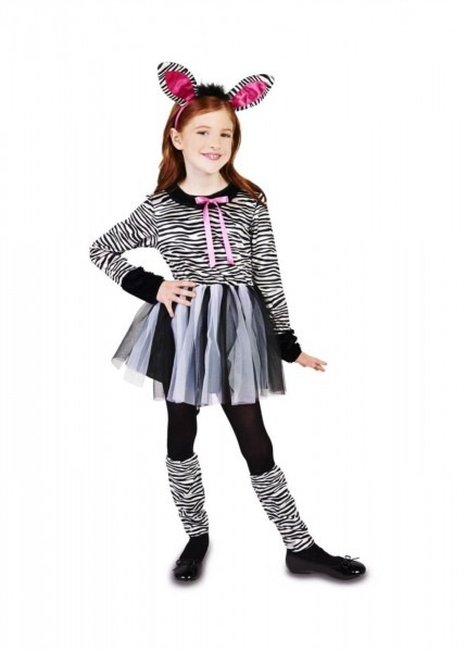 Little Girls Zebra Costume