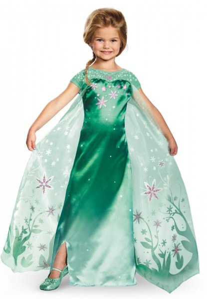 Elsa Frozen Fever Deluxe Girls Costume