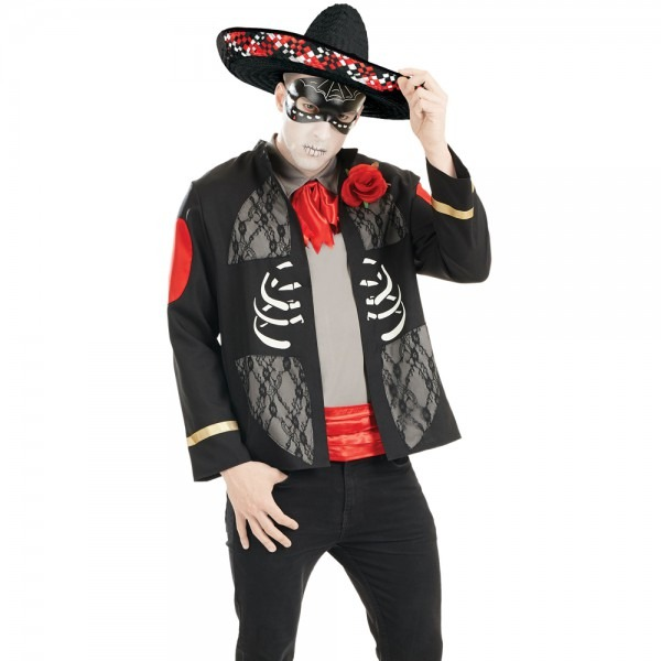Mens Mexican Day Of The Dead Halloween Costume Male Costume Dress