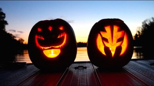Power Rangers Jack O'lantern Carving!!!