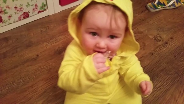 Olwen In A Cute Baby Pikachu Costume