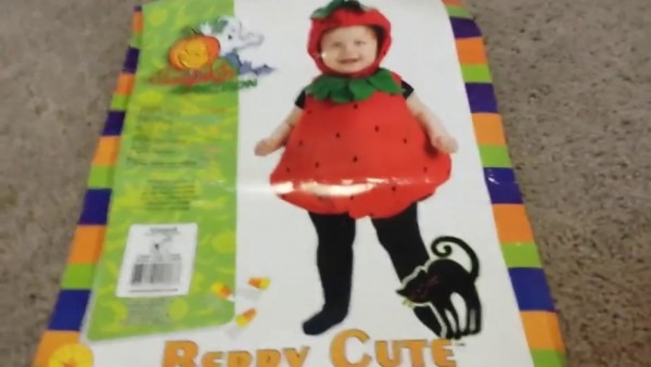 🎃toddler Strawberry Halloween Costume!🎃