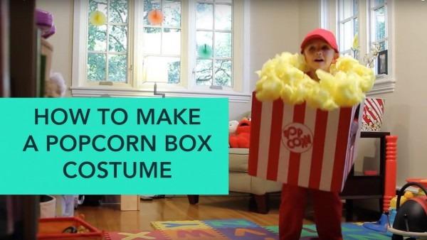 How To Make A Popcorn Box Costume