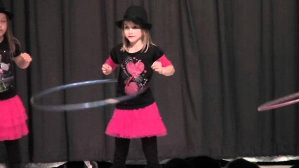Cute Girls Perform Hula Hoop Dance In Talent Show