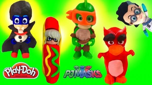 How To Make Easy Pj Masks Disney Jr Diy Play Doh Halloween