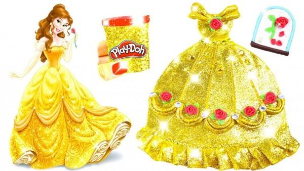 Play Doh Sparkle Belle Disney Princess Belle Sparkle Dress Shoes