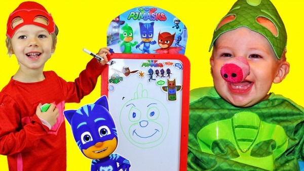 Pj Masks Owlette Draws Pictures For Gekko That Come To Life Kids