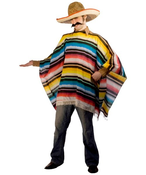 Mexican Serape And Sombrero Costume