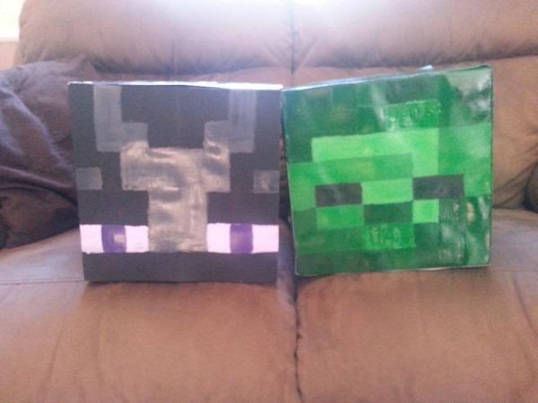 Minecraft Enderman Head Costume & Minecraft Creeper Head Sc 1 St
