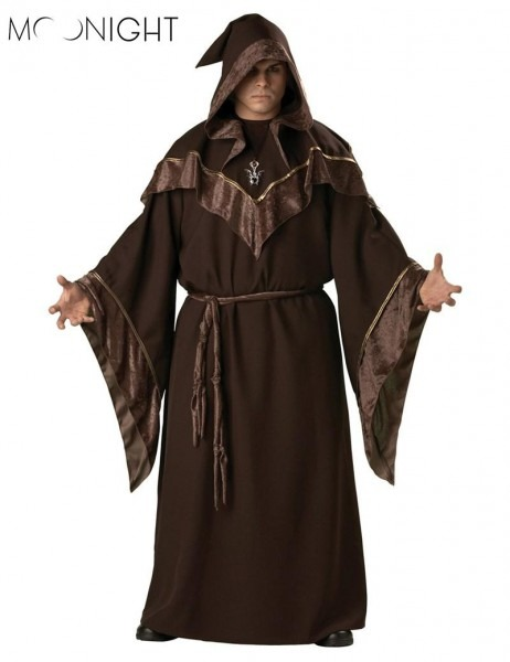 2019 Moonight Halloween Costumes Adult Mens Gothic Wizard Costume