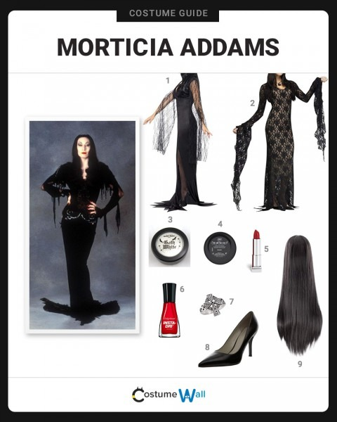 Dress Like Morticia Addams Costume