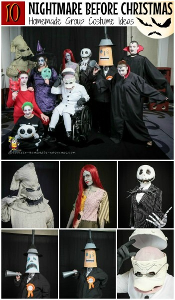 Coolest Diy Nightmare Before Christmas Group Costumes