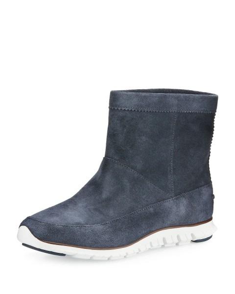 Cole Haan Zerogrand™ Suede Ankle Boot, Dark Knight Blue