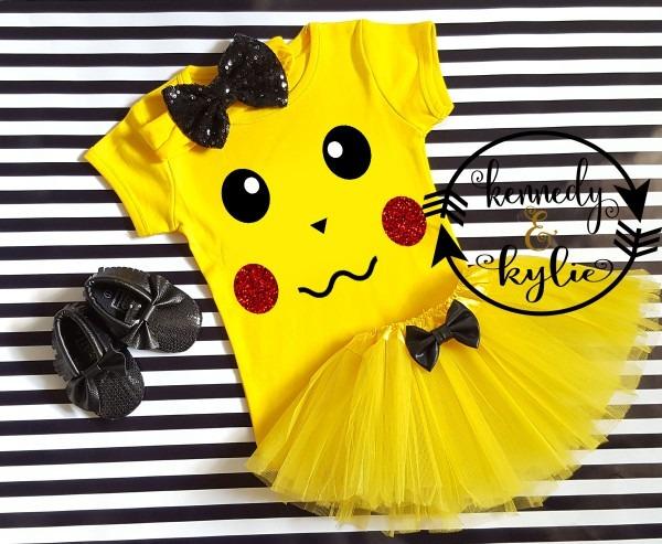 Pikachu Birthday Tutu Costume For Baby Girls Toddler Girls 0