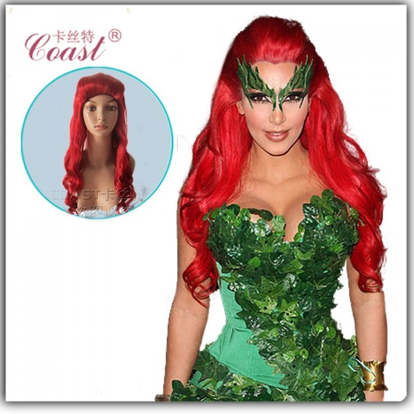 Poison Ivy Fancy Wig By Kaikoura On Poison Auburn Wig Red Long
