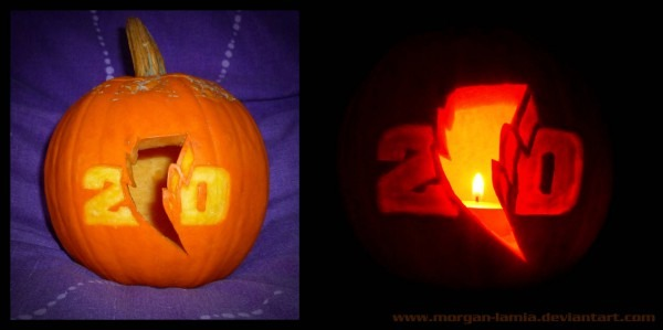 Power Rangers 20th Pumpkin By Morgan
