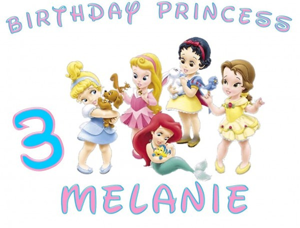 Disney Princess Babies Personalized Birthday Shirt