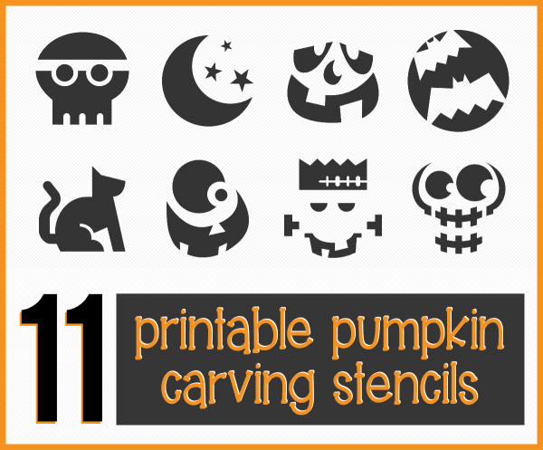 Get 11 Easy, Free Printable Pumpkin